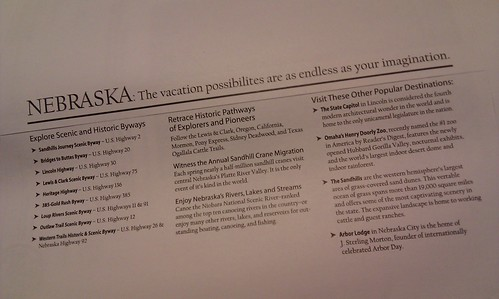 Tourism idea of the day: @nebraskatourism uses the back of envelopes to encourage visits.