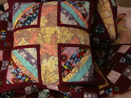 pillow and quilt together