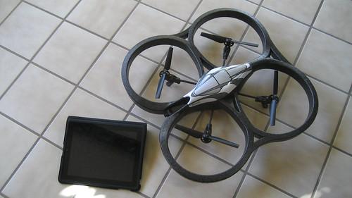 iPad controller, AR.drone