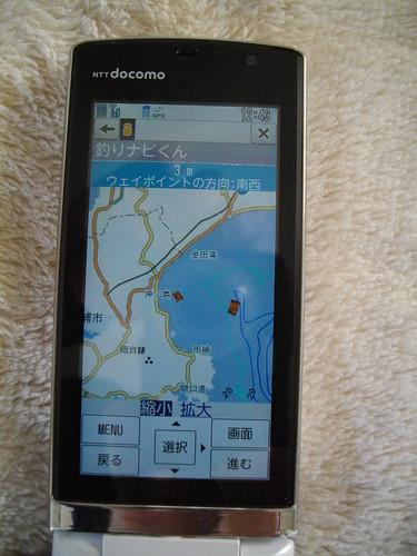 携帯画面で見る海底ソナー画像(三浦半島、釣りポイント、サバ根)2