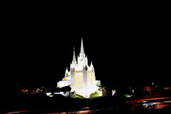 The Glowing Temple (Oleg.) Tags: night dark temple lights lowlight glow sandiego lajolla nightshoot glowing nightshots mormon mormontemple churchofjesuschristoflatterdaysaints dailyshoot t2ibest