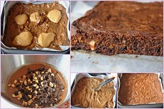 Caramel swirl brownies