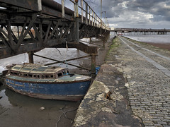 1040960 (ducatidave60) Tags: uk england boats lumix quay merseyside rivermersey rockferry gh2 abandonedboats panasonicgh2 panasonicdmcgh2 rockferryjetty