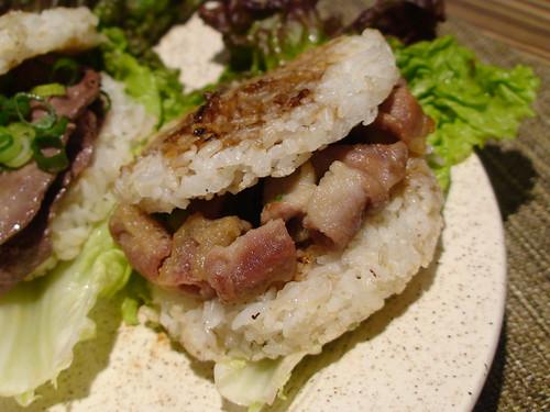 2/27/11 tripas rice burger
