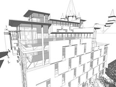Perspective of Penthouse Flats