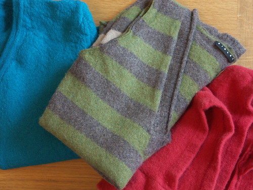 Felted sweater selection