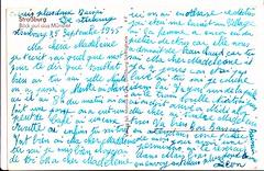 STRASBOURG ,  Straburg,  25 SEP 1945 ''lettre de Lon'', militaire franais division leclerc  ?  fin du conflit WWII VERSO; Ma chrie Madeleine, je t'cris ces quelques mots pour te dire que tout va bien. (lilas59) Tags: wwii strasbourg ww2 strasburg 1945 militaire soldat lettre alte cartepostale ansichtskarten