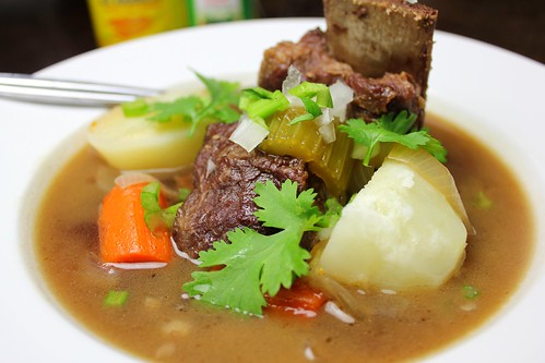 caldo de costillas (Colombian beef short rib soup)