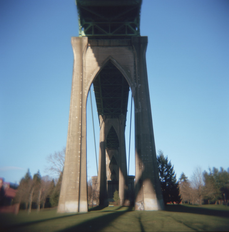 Cathedral Park with a loaded Holga