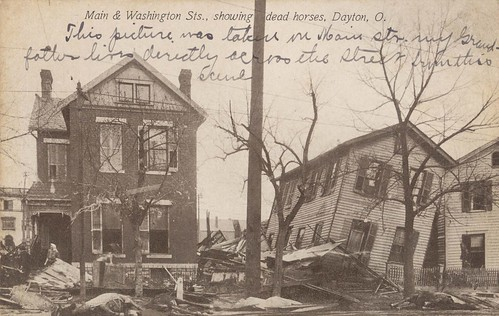 Main and Washington Streets, Dayton, OH - 1913 Flood