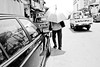 View from behind (Jacktan Photography 88) Tags: blackandwhite woman viewfrombehind penangroad holdingumbrella streetlonely