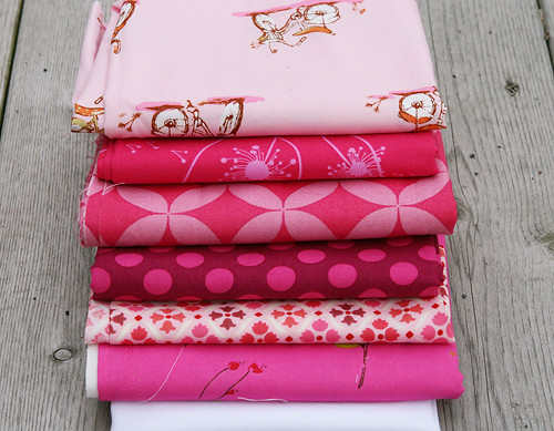 Fabric for Pink Improv Block