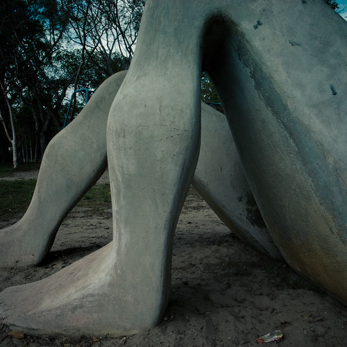 Where I Used to Play, The Naked Lady at Dante Fascell Park- Legs and Sand