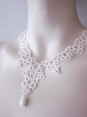 silk victorian necklace