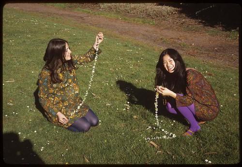 Making Daisy Chains in Golden Gate Park - San Francisco, California