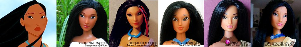 History of Pocahontas fashion dolls :)