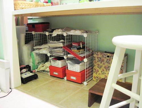 new thrifted under desk storage cubes