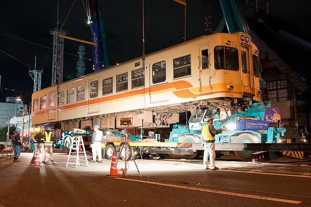 伊予鉄道700系 モハ711 廃車搬出