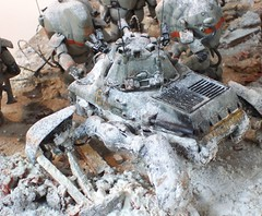 "1:35 Maschinen Krieger/SF3D - Commando ""Dead Snow"": Assault on  Torifujiograd, Winter 2884 (Diorama competition submission) - Zoom shot"