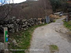 subida al monte Seixo cerca de Caroi desde A cima de Vila