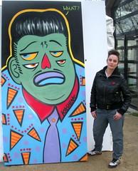 WHAT? (KASHINK) Tags: streetart paris girl graffiti tag peinture exposition what rockabilly rocknroll fille couleur mafia mafioso toile soprano mexicain bagneux kashink