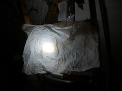 My fake daylight with bin bag filter