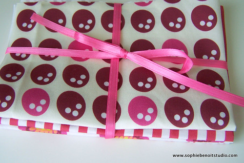 Organic Fabric Swatches Set with Ribbon