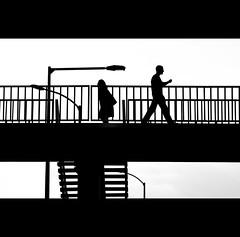 Day Seventy (ODPictures Art Studio LTD - Hungary) Tags: bridge people bw monochrome silhouette canon eos blackwhite hungary budapest move feeling hungarian 500d rsvezrtere 70200f4lusm orbandomonkoshu