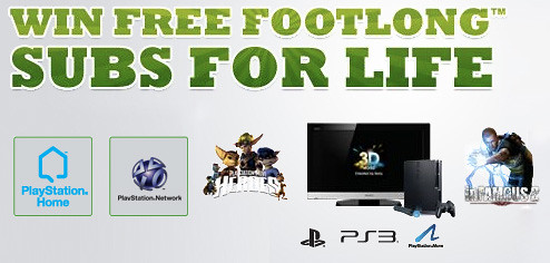 Subway PS3 sweepstakes