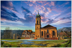 Thierenbach (Jean-Michel Priaux) Tags: sky france art church nature colors clouds photoshop landscape alsace paysage glise hdr vosges mattepainting guebwiller soultz priaux jungholtz mygearandme