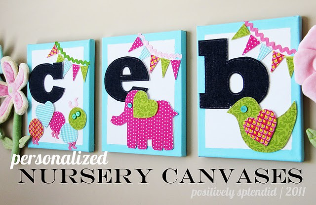 Bright Nursery Canvases