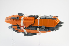 "N-22 ""Battle Axe"" Defense Frigate (Titolian) Tags: art scale ship lego space battle micro future scifi axe concept frigate defense moc microspace legospace microscale mocathalon"