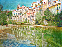 """""""We travel the world over to find the beautiful. """" ~ Emerson (Az Karen...busy) Tags: summer france texture water colors reflections river colorful vecors hanginghouses summer2008 tatot magicunicornverybest imageourtime isredepartment pontenroyansfrance"""