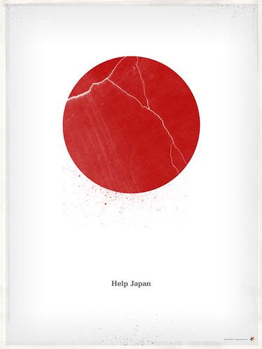 Cartel terremoto Japón