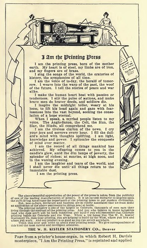 I am the printing press by Exile Bibliophile