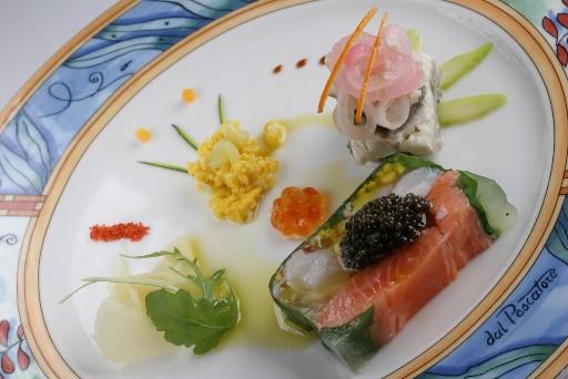 Аппетитная еда 1208811525721_terrinadipescatore-salmoneasticeecaviale-anguillaincarpione