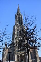 The world tallest steeple (Sokleine) Tags: tower heritage church germany deutschland bell gothic churchtower historic stadtmitte minster allemagne église citycentre ulm clocher ulmermünster badenwürttenberg