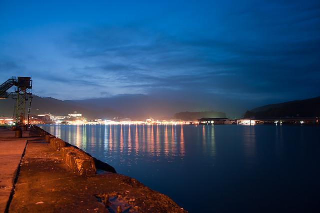 女川港の夜景