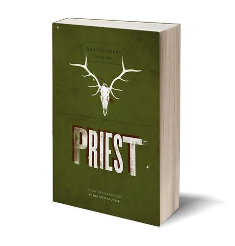 PRIEST cover design mockup