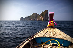 Drawing Near to Phi Phi Leh # 1 (Lee Phelps Photography) Tags: ocean travel sea canon landscape thailand island boat phi indian tokina thai leh andaman 500d 1116mm t1i