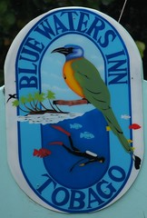 Blue Waters Inn sign