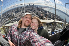And the View From the Top! (David M Hogan) Tags: seattle robin skyline dave view top spaceneedle observationdeck
