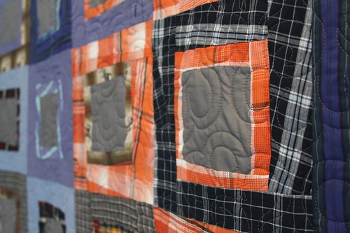mamaka mills recycled quilt, memory quilt, sustainable quilt, quilt made from shirts, clothing quilt 2