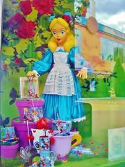 alice (Elysia in Wonderland) Tags: blue holiday paris reflection green window shop store colorful purple bright display alice disneyland disney card mug colourful wonderland elysia