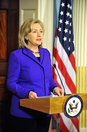 Secretary Clinton Makes a Press Announcement
