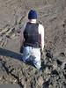 mudhole (MudboyUK) Tags: man male mud stuck sink deep jeans muddy quicksand