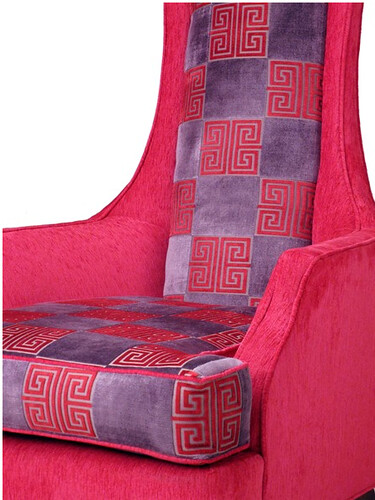 vintage pink and red chair