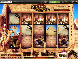 free Fortune of the Pharaohs slot bonus feature 2
