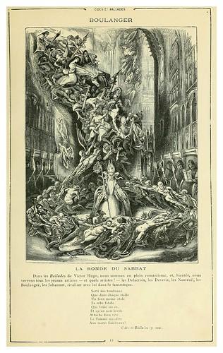 002-La danza del Sabbat- Odas y Baladas-Cent dessins  extraits des oeuvres de Victor Hugo  album specimen (1800)