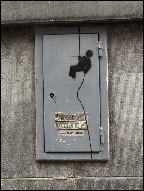 Amsterdam stencil streetart